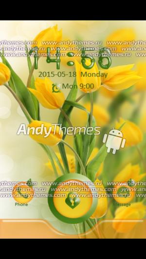 Yellow Tulips Locker Theme89